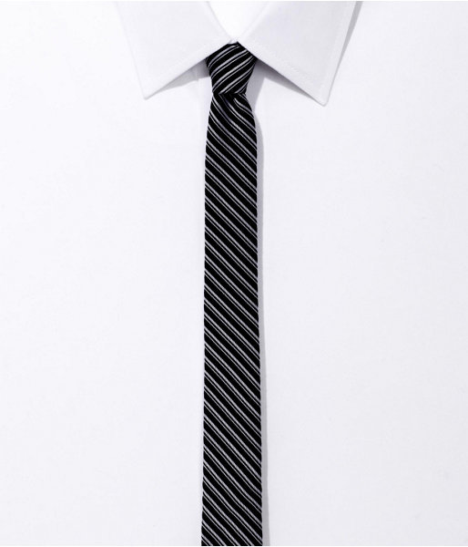 Express Super Skinny Silk Tie - Stripe