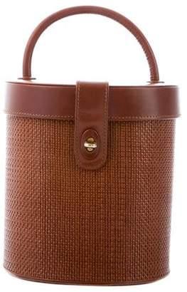 Manolo Blahnik Leather Bucket Bag