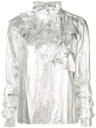 Jovonna ruffle blouse