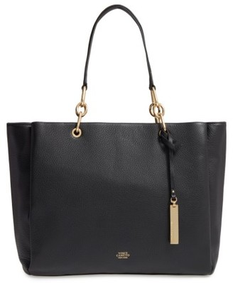 Vince Camuto Avin Leather Tote - Black $268 thestylecure.com