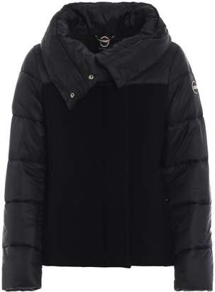 Colmar Black Wool Nylon Puffer Jacket