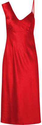 Alexander Wang Satin Midi Dress - Red