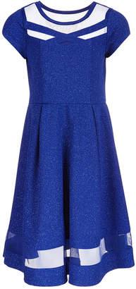 Bonnie Jean Big Girls Glitter-Knit Dress