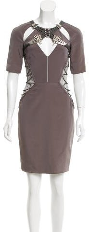 GucciGucci Embellished Mesh-Accented Dress
