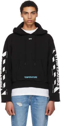 Off-White Black Diagonal Temperature Hoodie