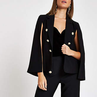 River Island Black long sleeve cape jacket