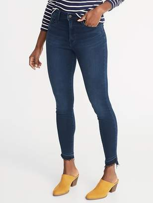 Old Navy High-Rise Built-In Warm Released-Hem Rockstar Super Skinny Jeans for Women