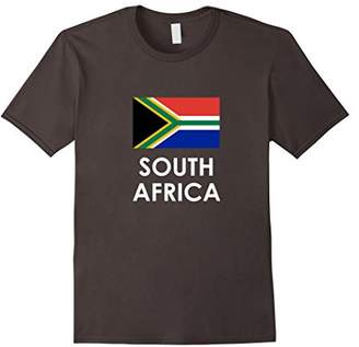 South Africa Flag T Shirt for S Africans Loving Americans