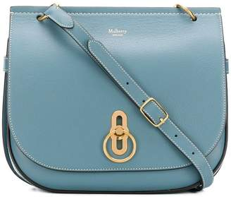 Mulberry flap fastened crossbody bag