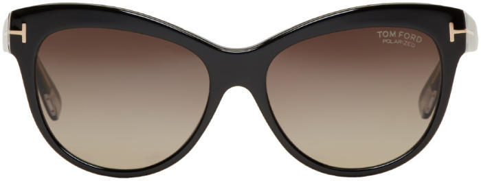 Tom Ford Black Lily Cat-Eye Sunglasses