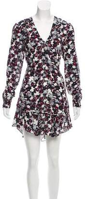 Veronica Beard Silk Printed Mini Dress