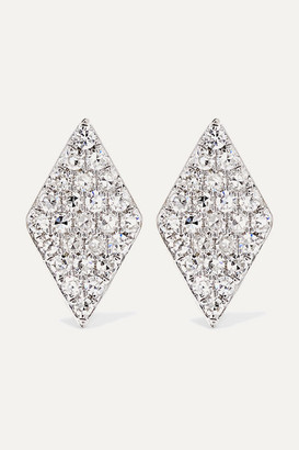 STONE AND STRAND - 14-karat Gold Diamond Earrings