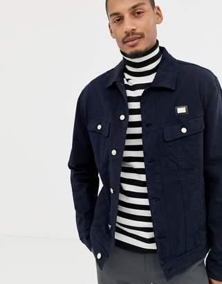 Love Moschino navy denim jacket with chest placket