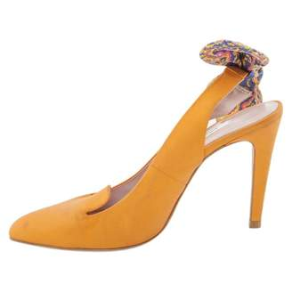 Carven Orange Leather Heels