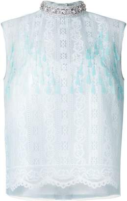 Marc Jacobs embellished lace blouse
