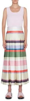 Akris Punto Memphis Glass Print Midi Bell Skirt