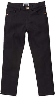 Versace Boy's Denim Jeans w/ Barocco Print Back Pockets, Size 8-14