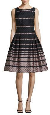 Carmen Marc Valvo Scalloped Fit-and-Flare Dress $495 thestylecure.com
