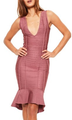 Women's Missguided Frill Hem Bandage Dress $93 thestylecure.com