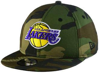 New Era Boys' Los Angeles Lakers Woodland Team 9FIFTY Snapback Cap