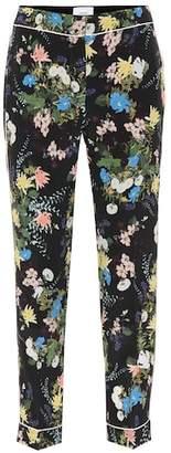 Erdem Ginnie floral-printed silk pants
