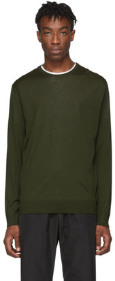 Prada Green Wool Lightweight Sweater