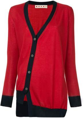 Marni cashmere off-centre fastening cardigan