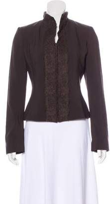 Valentino Lace-Accented Wool Jacket