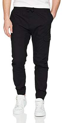 Southpole Men's Jogger Pants Washed Ripstop Fabric with Cargo Pockets