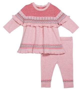 Angel Dear Girl's Chunky Knit Tunic w/ Matching Leggings, Size 3-24 Months