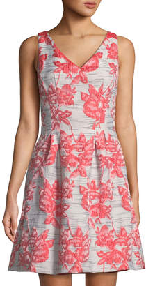 1f94bd96febd Donna Ricco Embroidered Fit- -Flare Sleeveless Dress