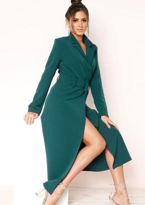 133b071da Missy Empire Missyempire Gillian Emerald Green Utility Belted Dress
