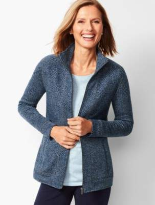 Talbots Textured Herringbone Jacket