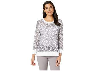 Nally & Millie Lace Panel Seam Contrast Top