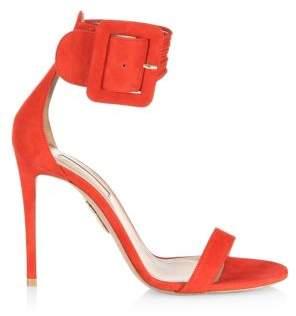 Aquazzura Casablanca Suede Stiletto Sandals