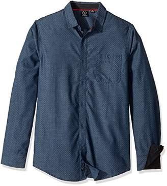 Burnside Men's Crushin It Long Sleeve Button Down Solid Woven Shirt