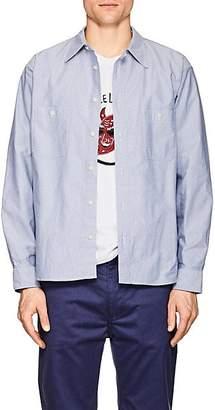 Visvim Men's Elbow-Patch Cotton Shirt - Lt. Blue