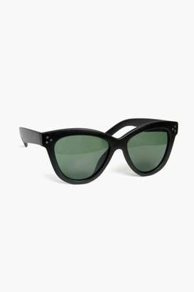 A.J. Morgan Eyewear Matte Black Corner Girl Sunglasses