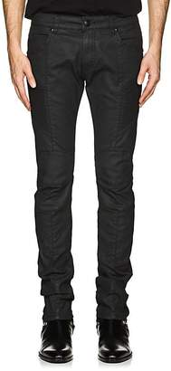 Pierre Balmain MEN'S COATED SKINNY BIKER JEANS