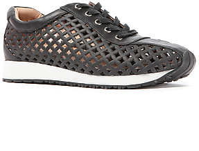 Jeffrey Campbell The 10K Run Sneaker in Black Punched Leather