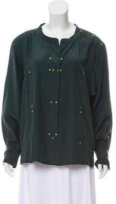 Isabel Marant Silk Button- Up Top