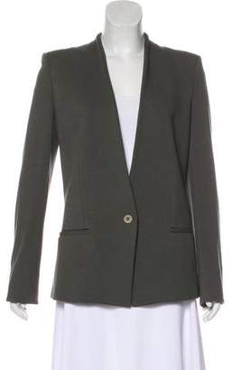 Helmut Lang Collarless Long Sleeve Blazer