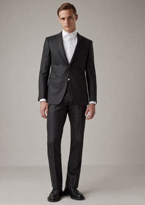 Giorgio Armani Regular-Fit Fully-Canvassed Trader Blu Range Suit In Levantine