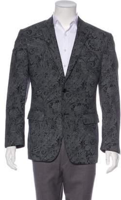 John Varvatos Paisley Sport Coat black Paisley Sport Coat