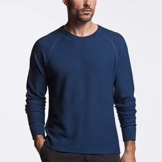 James Perse COTTON THERMAL RAGLAN SWEATER