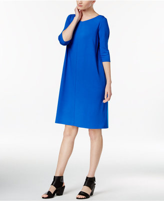Eileen Fisher Jersey V-Neck Shift Dress $178 thestylecure.com