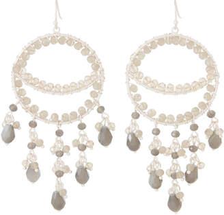 Schiff Marlyn Silver-Tone Beaded Statement Earrings