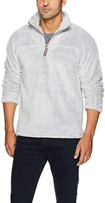 True Grit Men's Luxe Ultra Soft Fleece Mini Stripe 1/4 Zip Pullover
