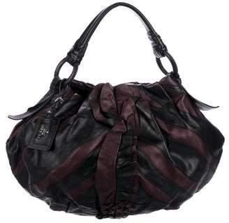 Prada Vitellino Ruffle Stripes Bag