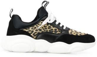 Moschino leopard print Teddy Run sneakers